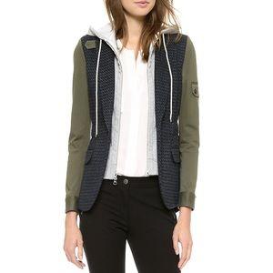 Veronica Beard Tweed Army Sleeve Dickey Jacket